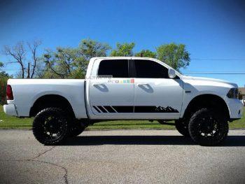 2x Decal Sticker Graphic Side Mountain Stripes Dodge Ram 2009-2017 1500 2500