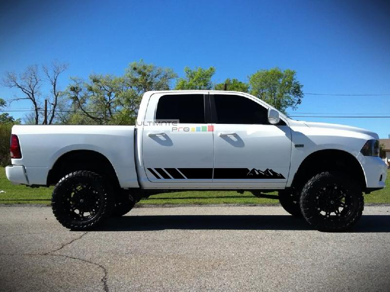 Dodge Ram 2017 >> 2x Decal Sticker Graphic Side Mountain Stripes Compatible With Dodge Ram 2009 2017 1500 2500