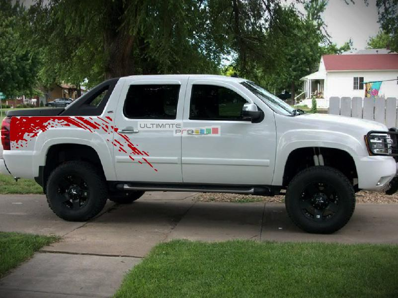 Chevy Avalanche 2017 >> Bed Mud Splash Vinyl Sticker Graphic Compatible with Chevrolet Avalanche 2007-2013 - ultimateprocy