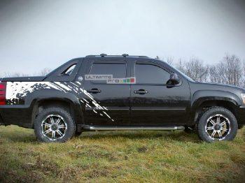 Bed Mud Splash Vinyl Sticker Graphic Chevrolet Avalanche 2007-2013