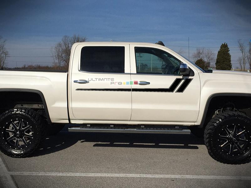 Gmc Canyon Denali >> Decal Graphic Sticker Door Sport Stripe Kit Compatible ...