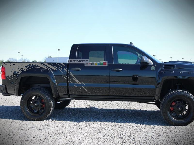 Decal Sticker Graphic Bed Splash Mud Kit Compatible With