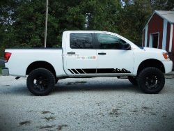 Decal Sticker Graphic Left and Right Side Stripe Kit Nissan Titan 2003-2017