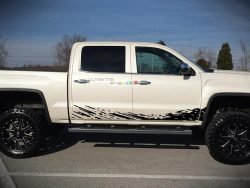 Decal Sticker Graphic Lower Mud Splash Kit GMC Sierra 2014-2017