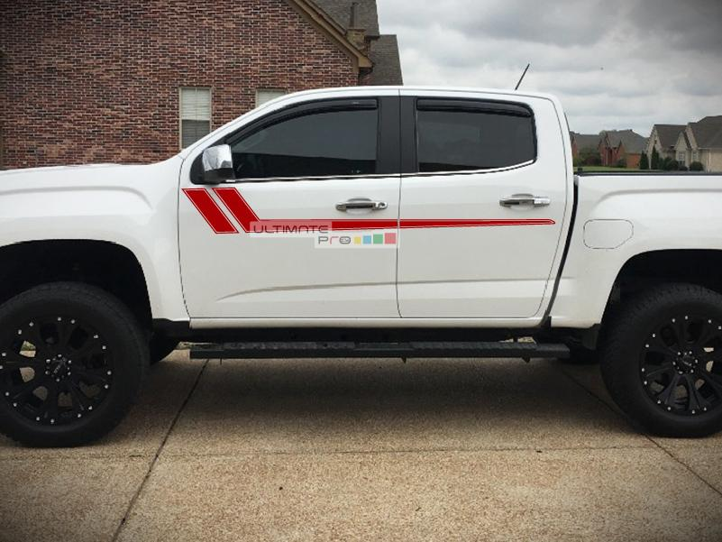 Decal Sticker Graphic Upper Door Stripes Compatible with GMC Canyon 2014-2017 - ultimateprocy