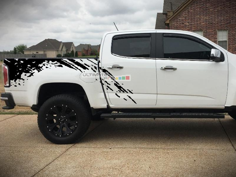 Decal Sticker Vinyl Bed Mud Splash Kit Compatible With Gmc