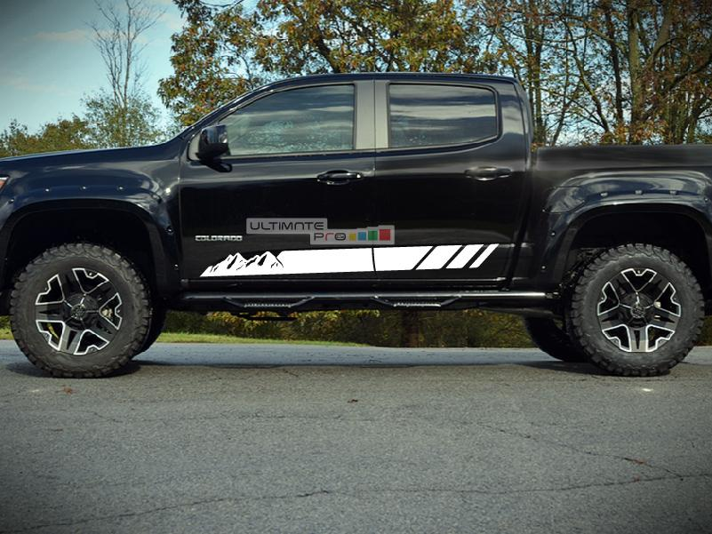 High Country Chevy >> Decal Sticker Vinyl Mountain Stripe Kit Compatible with ...