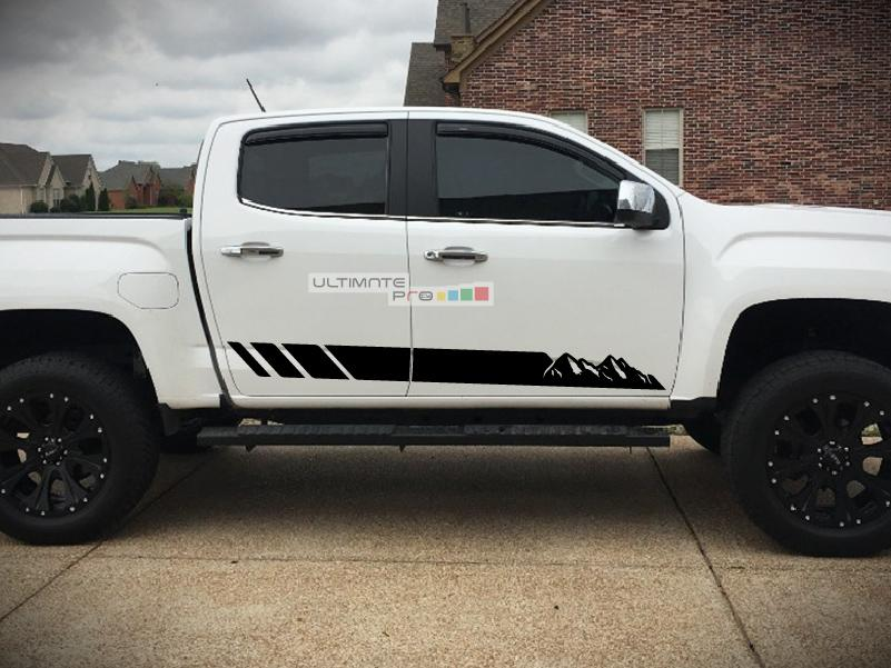 Decal Sticker Vinyl Off-Road Mountain Stripes GMC Canyon 2014-2017