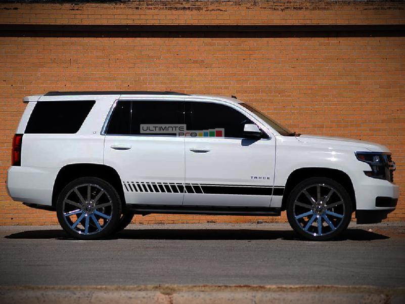 Decal Sticker Vinyl Side Sport Stripe Kit Chevrolet Tahoe 2015-2017