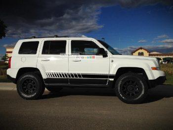 Decal Sticker Vinyl Side Sport Stripe Kit Jeep Patriot 2007-2017