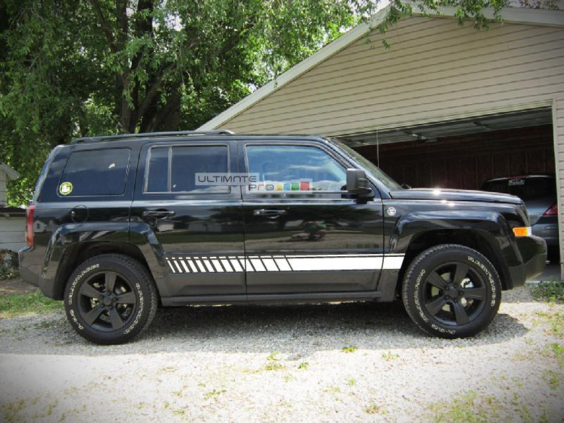 Decal Sticker Vinyl Side Sport Stripe Kit Compatible With Jeep