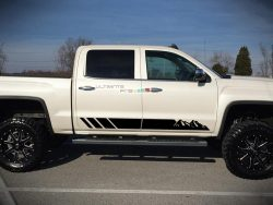 Decal Sticker Vinyl Side Stripe Kit GMC Sierra 2014-2017