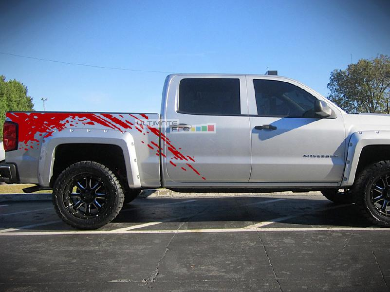 Off Road Bed Splash Mud Decal Graphic Vinyl Chevrolet Silverado 2017