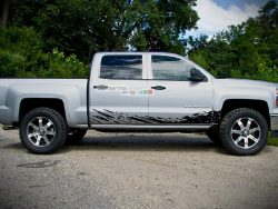 Off-Road Mud Splash Decal Graphic Vinyl Chevrolet Silverado 2014-2017