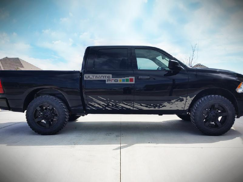 Off Road Mud Splash Decal Graphic Vinyl Compatible With Dodge Ram Gray