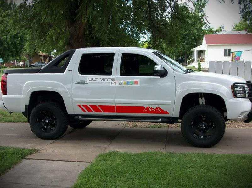 Offroad Mountain Stripes Vinyl Decal Sticker Graphic