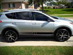 Set of Lower Sport Stripes Decal Sticker Vinyl for Toyota RAV4 2013-2017
