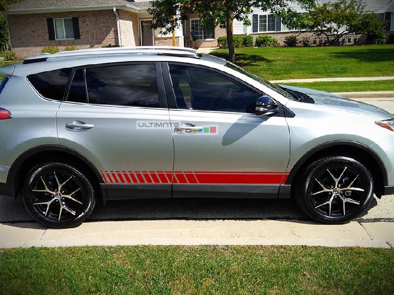 Set Of Lower Sport Stripes Decal Sticker Vinyl For Toyota