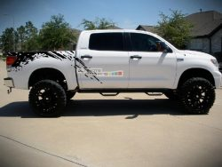 Set of Side Bed Splash Mud Decal Sticker Graphic Toyota Tundra 2007-2017