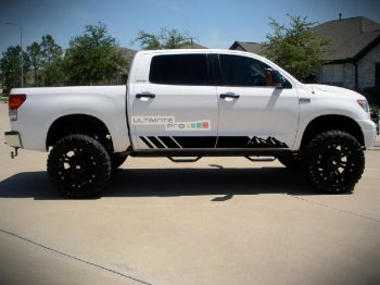 Set of Side Mountain Stripes Decal Sticker Graphic Toyota Tundra 2007-2017