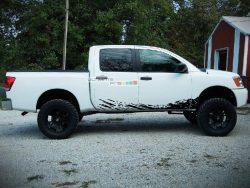 Set of Side Mud Splash Decal Sticker Graphic Nissan Titan 2003-2015