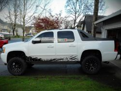 Side Mud Splash Vinyl Sticker Graphic Chevrolet Avalanche 2007-2013