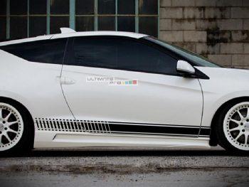 Decal Sticker Vinyl Side Racing Stripes Honda CR-Z Hybrid Coupe 2010-2016