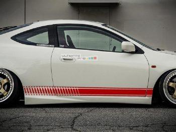 Decal Sticker Vinyl Side Racing Stripes Honda Integra (DC5) Type R
