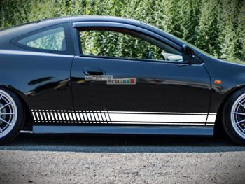Decal Sticker Vinyl Side Racing Stripes Honda Integra Type R 4th Generation Models