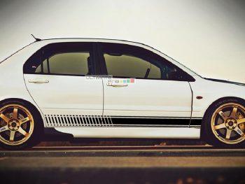2x Decal Sticker Vinyl Side Racing Stripes Mitsubishi Lancer Evolution 8 GSR MR SE