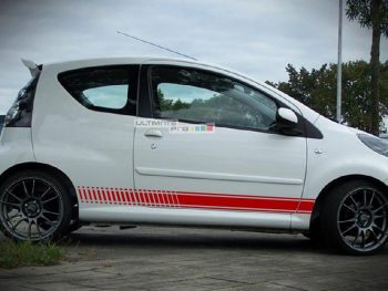 Decal Sticker Vinyl Side Racing Stripes Peugeot 107 2005-2014