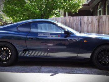 Decal Sticker Vinyl Side Racing Stripes Toyota Supra A80 Twin Turbocharged
