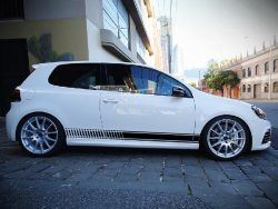 Decal Sticker Vinyl Side Racing Stripes Volkswagen VW Golf Mk6 and Mk7