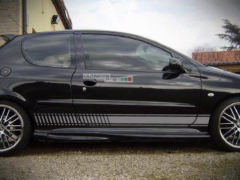 Lower Side Stripes Decal Sticker Vinyl Kit Peugeot 206 GTi 180 RC Hot Hatch