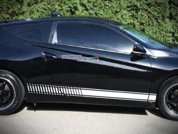 Lower Side Stripes Decal Sticker Vinyl kit Honda CR-Z Sport Coupe