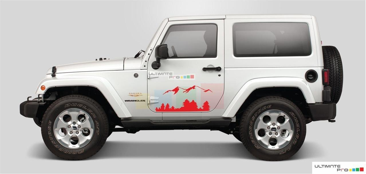 Black Mountains Set Decal sticker Compatible with Jeep ...