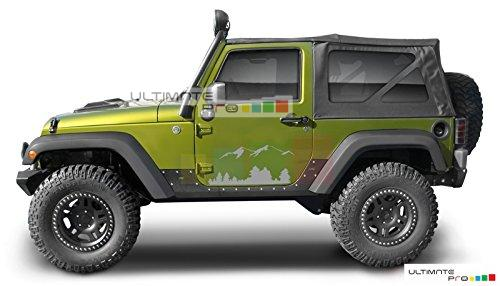 Black Mountains Set Decal Sticker Compatible With Jeep