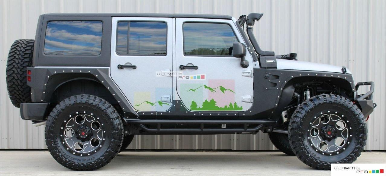 Black Mountains Decal Sticker Compatible With Jeep