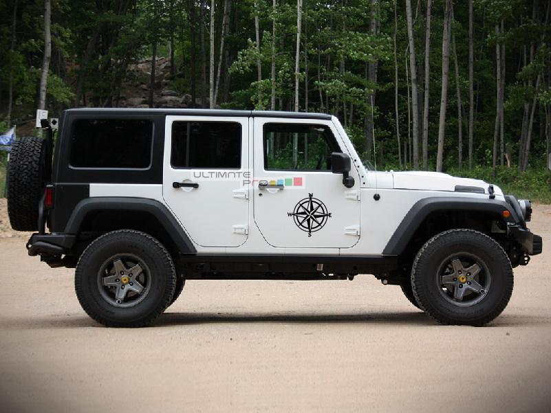 2x Stars Decal CompassSticker Jeep Wrangler RUBICON Jk