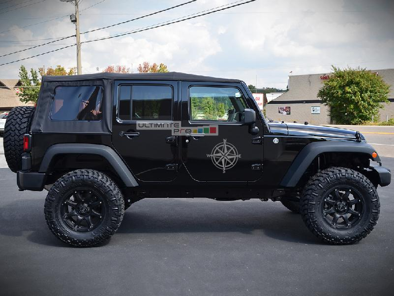 2x Stars Decal Compass Sticker Compatible With Jeep