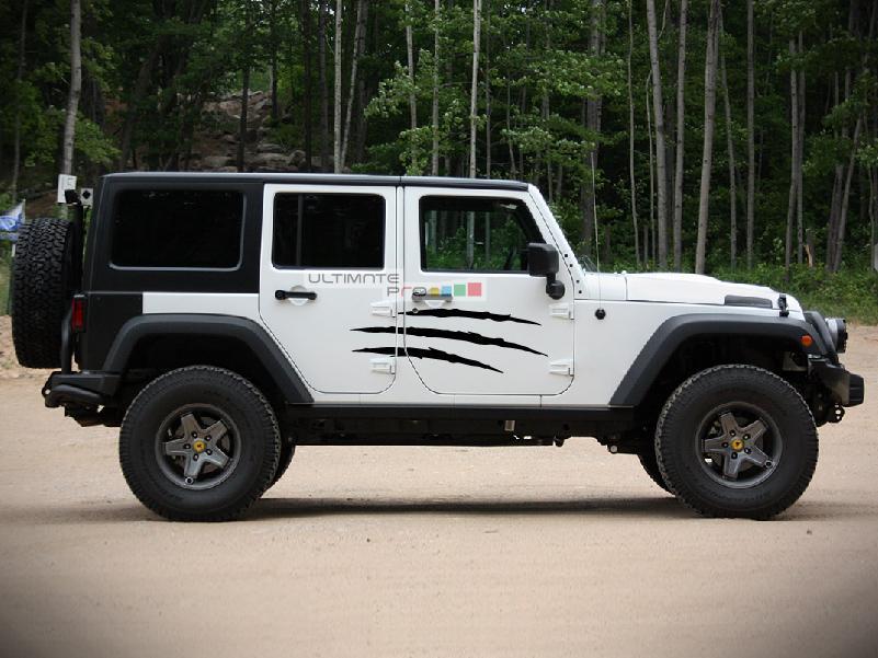 2x Stars Decal Scratches Sticker Jeep Wrangler RUBICON Jk
