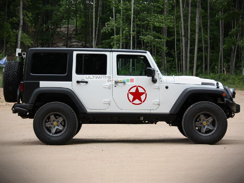 2x Stars Decal Side Star Sticker Compatible With Jeep