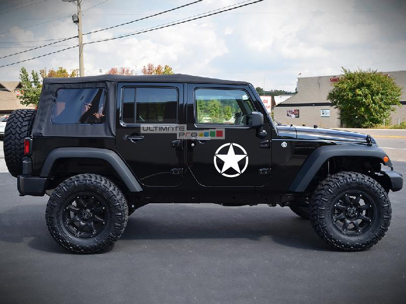 2x Stars Decal Side Star Sticker Compatible with Jeep ...