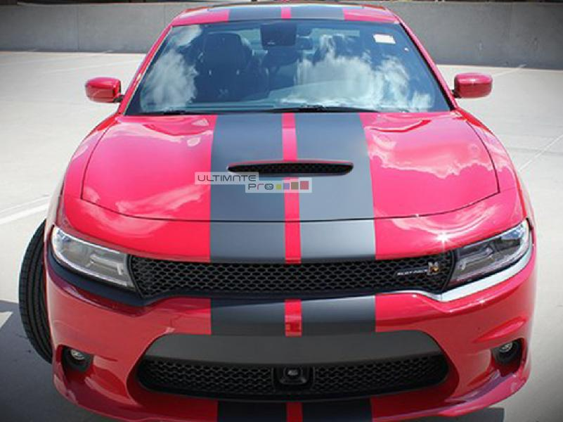 2017 Dodge Charger Rt White >> 1x Full Stripe Kit Decal Sticker Graphic Compatible with Dodge Charger SRT RT 7th Gen ...