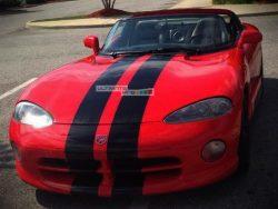 Decal Graphic Sticker Stripe Body Kit Dodge Viper Roadster