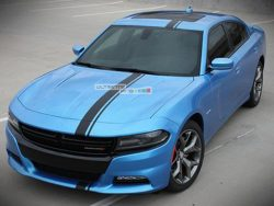 Decal Sticker Graphic Front to Back Stripe Kit Dodge Charger SRT Hellcat Supercharged