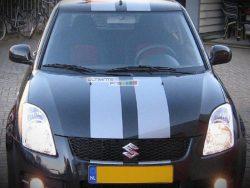 Decal Sticker Graphic Front to Back Stripe Kit Suzuki Swift Sport