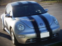 Decal Sticker Graphic Front to Back Stripe Kit VW New BEETLE Turbo S RSI