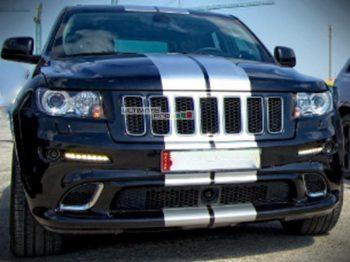 Decal Sticker Vinyl Body Racing Stripe Kit Jeep Grand Cherokee WK2 SRT8