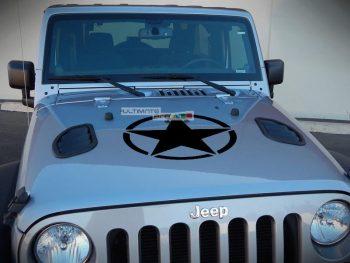 Decal Sticker Vinyl Hood Star Jeep Wrangler JK Unlimited Rubicon Sahara Sport S